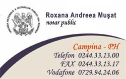 NOTAR PUBLIC ROXANA ANDREEA MUSAT