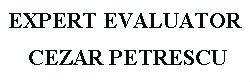 EXPERT EVALUATOR CEZAR PETRESCU